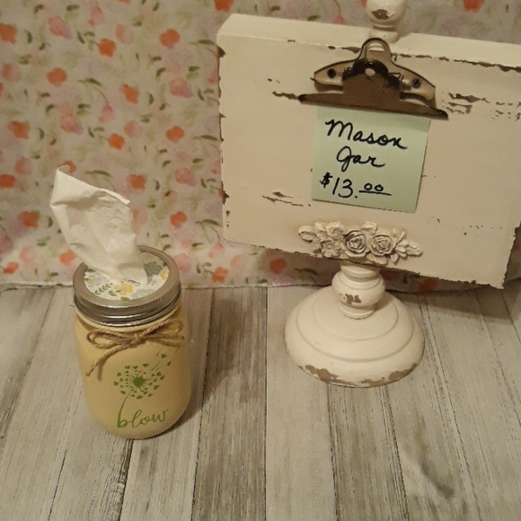 homemade Other - Tissue Mason Jar/Floral Lid